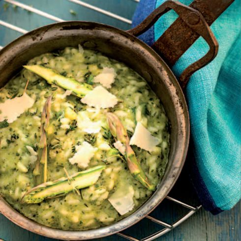 Zelené rizoto s pestom